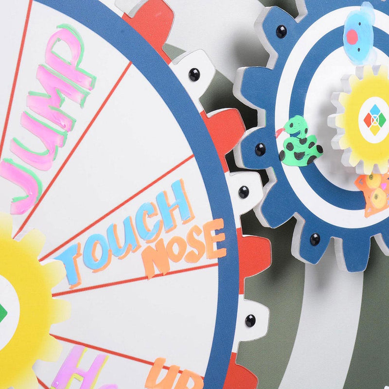 WinSpin Prize Wheel Double Gears Tabletop Round Base, 24""
