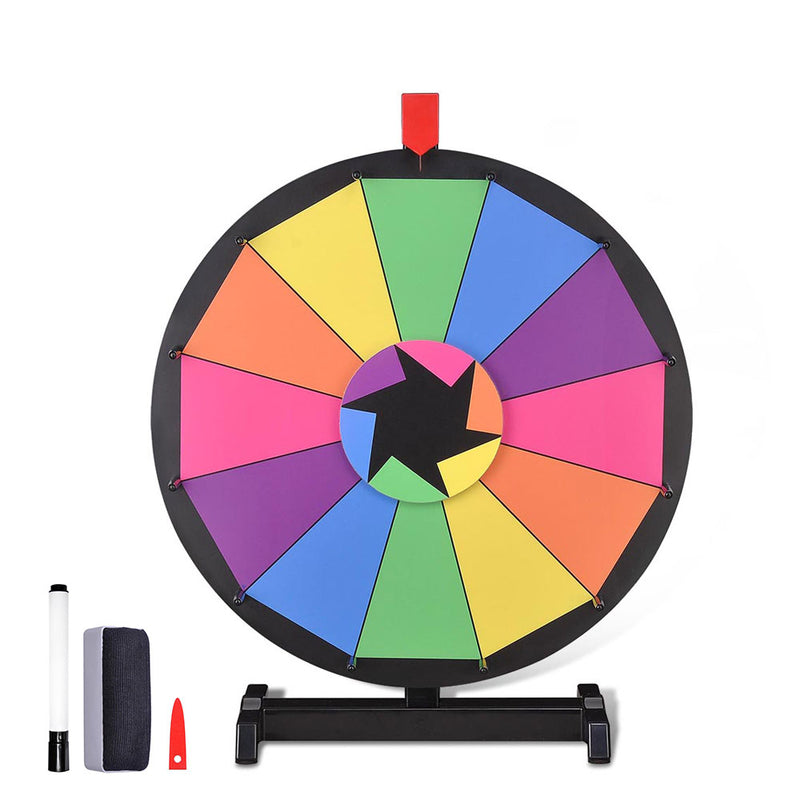 Winspin Wheel Tabletop Prize Wheel Dry Erase Colorful, 18""