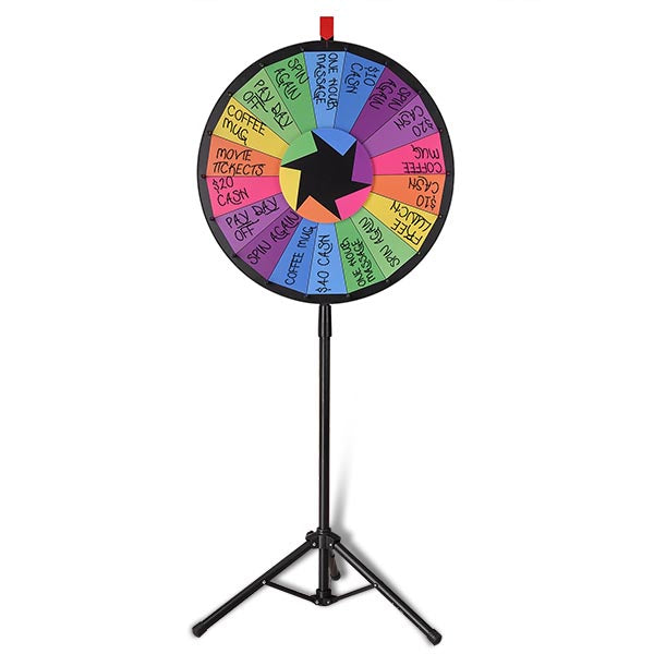 WinSpin Prize Wheel Dry Erase Spinning Wheel w/ Tripod Stand, 24""