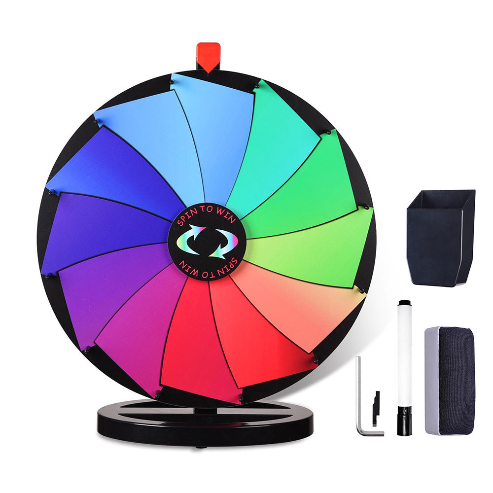"WinSpin® 24"" 12-Slot Tabletop Dry Erase Spinning Prize Wheel"