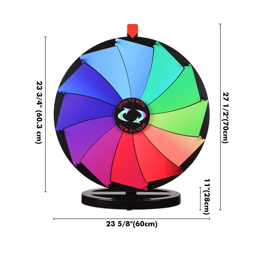 "WinSpin Prize Wheel 24"" Tabletop Spinning Wheel Dry Erase Oval Base"