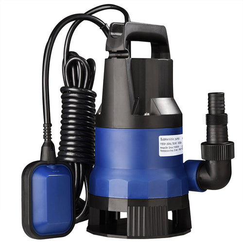 Submersible Dirty Water Pump w/ Float, 1HP 750W