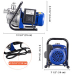 Electric Water Pump Sump Pump Stainless Steel 1.3 HP