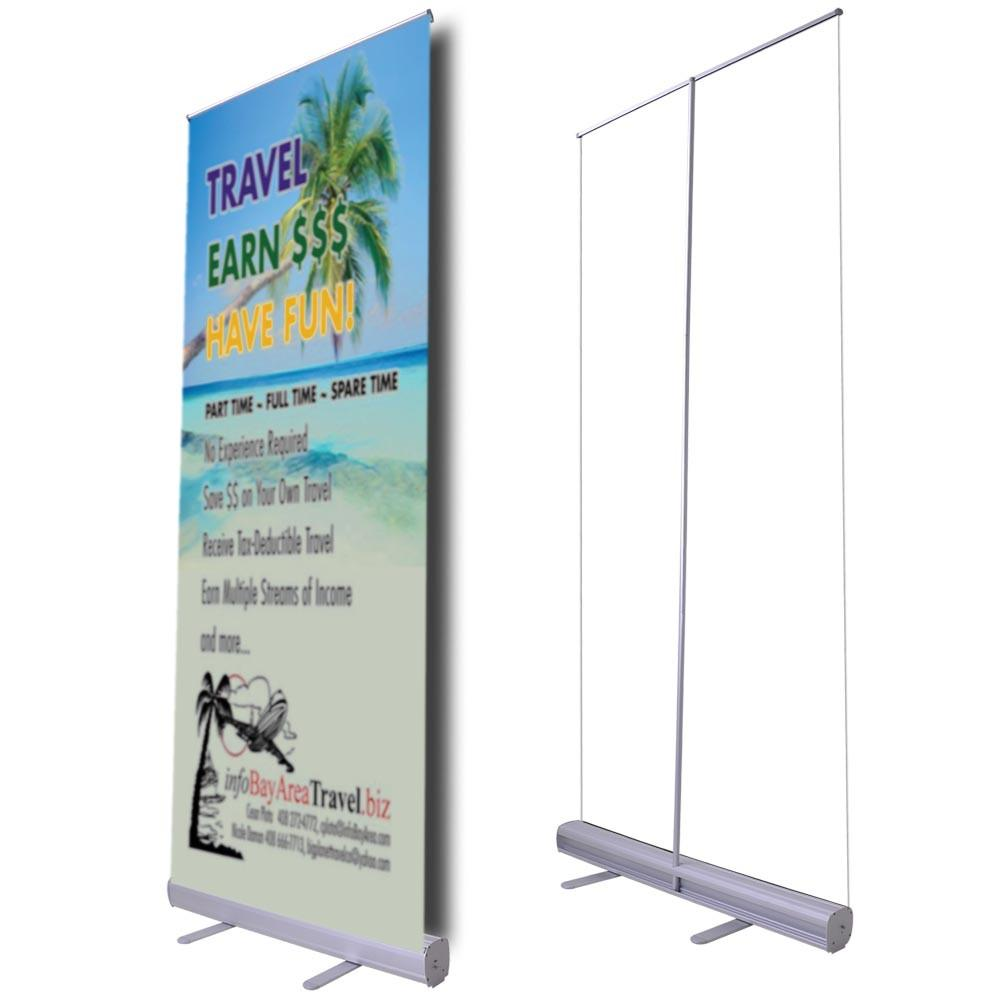 33 Quot Roll Up Retractable Banner Stand Economy The Display