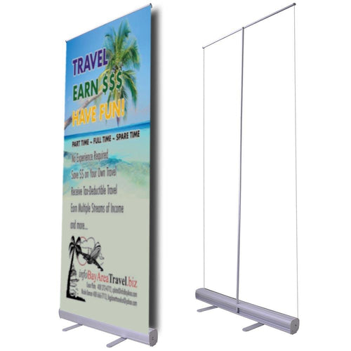 "33"" Roll Up Retractable Banner Stand Economy"