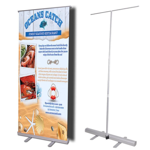 "32"" Roll Up Retractable Telescopic Banner Stand"