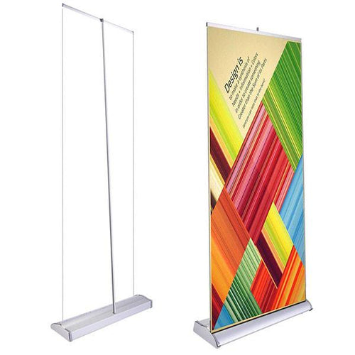"33"" Roll Up Retractable Banner Stand Vertical"