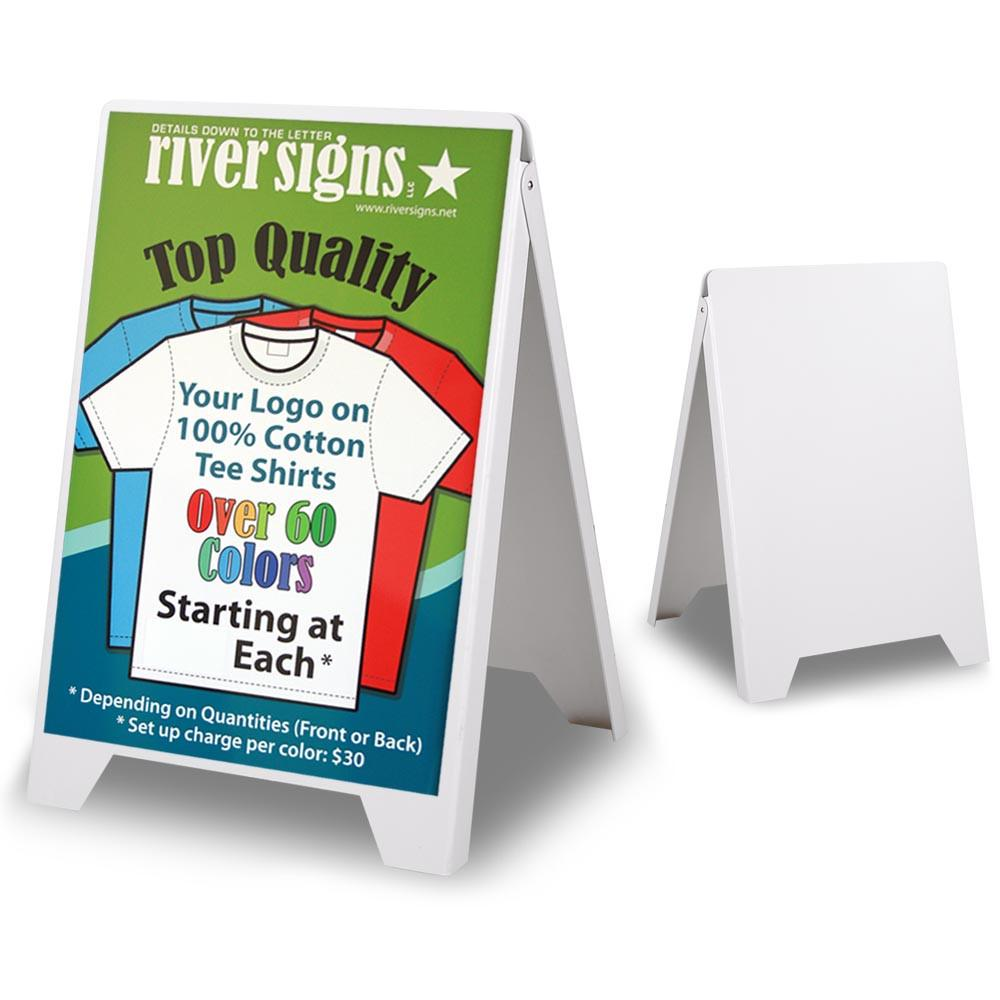 Wholesale Sidewalk Sign Stand Double Sided, White, 19.5x32.7 Posters