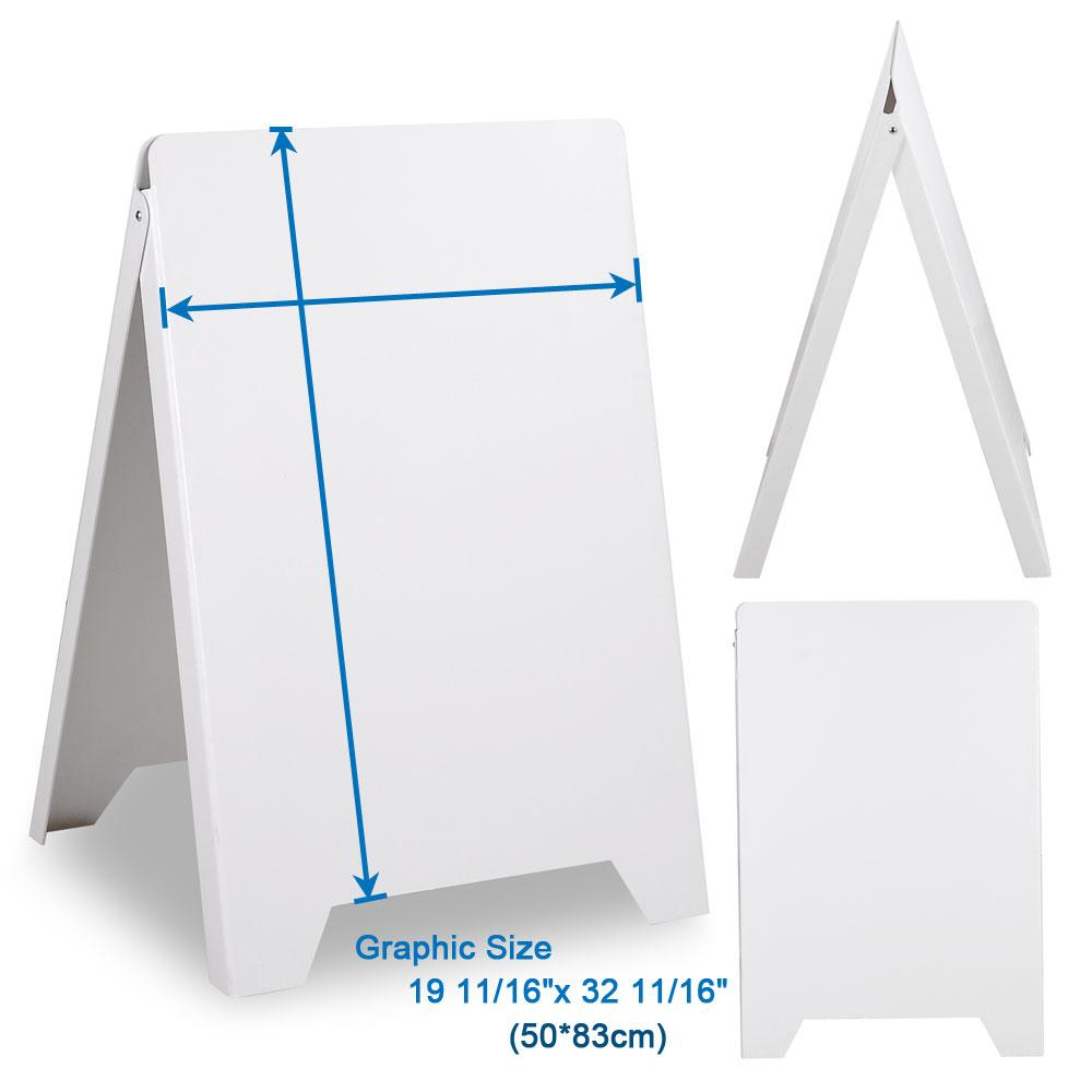 Sidewalk A Frame Sandwich Board Sign White