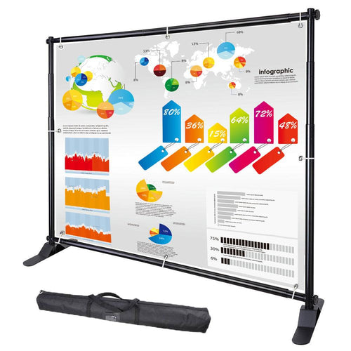 10x8 ft Adjustable Telescopic Trade Show Banner Stand
