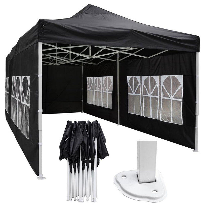 10'x20' Waterproof Pop Up Canopy Tent with Sides
