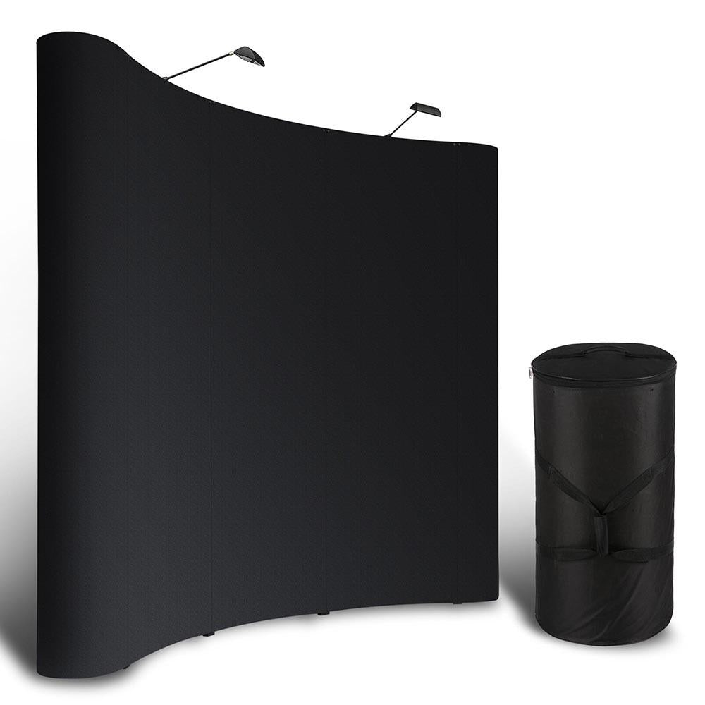 Exhibition Stand Pop Up : 10ft pop up trade show display booth exhibit stand w case black