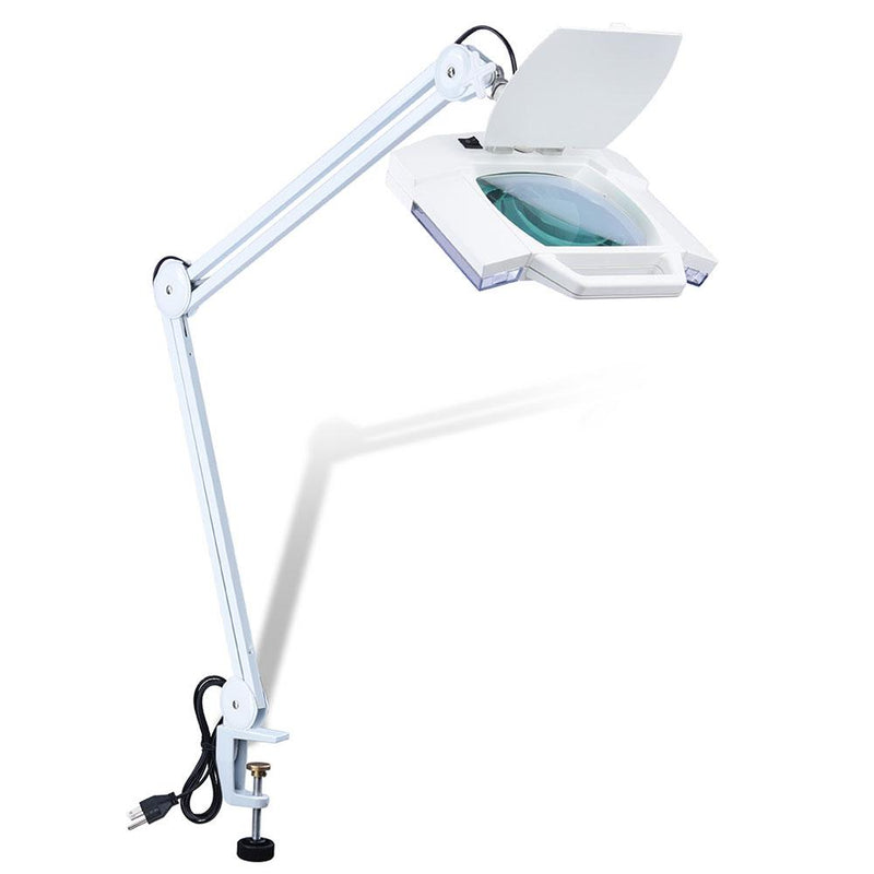 5x Mag Desk Swing Lamp with Magnifier and Clamp