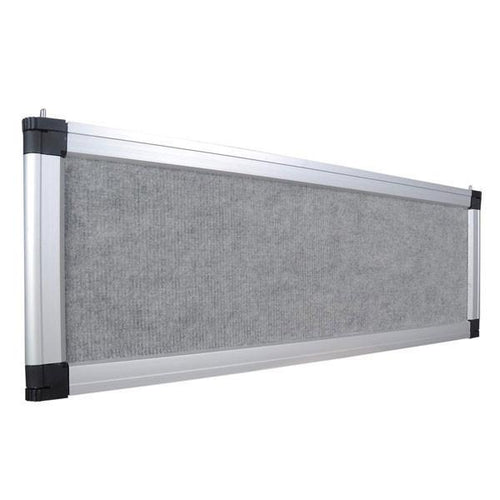 Portable Trade Show Display Header Gray