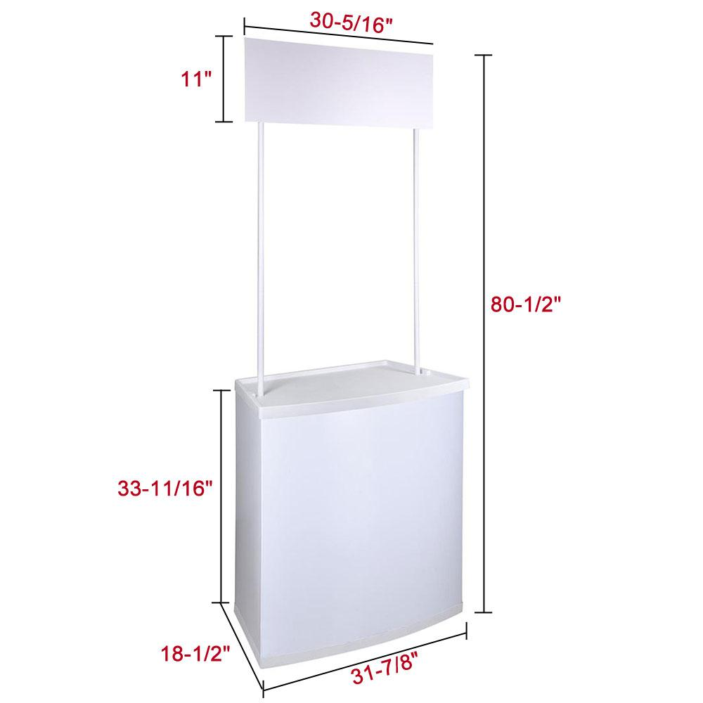 Portable Promotional Counter Banner Stand Trade Show Display
