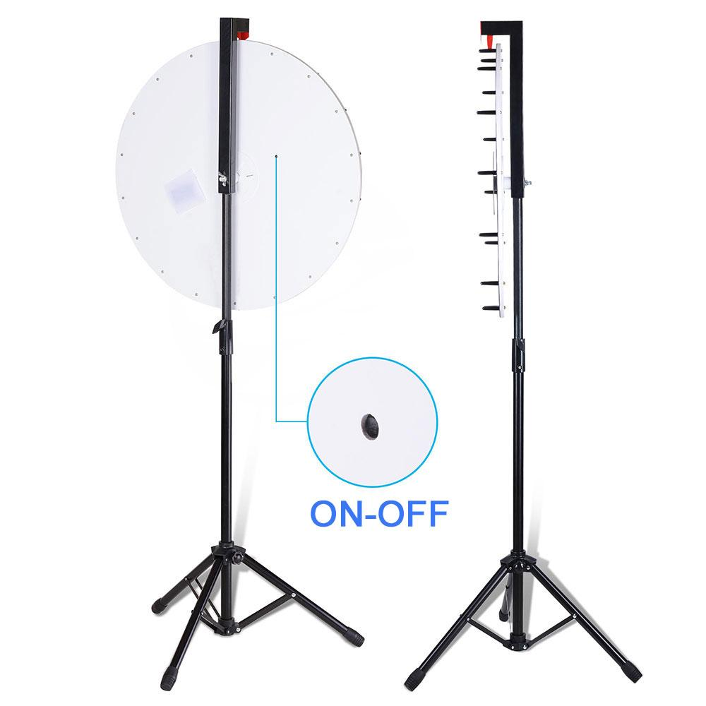 "WinSpin LED Spinning Prize Wheel 24"" Floor Stand Dry Erase"
