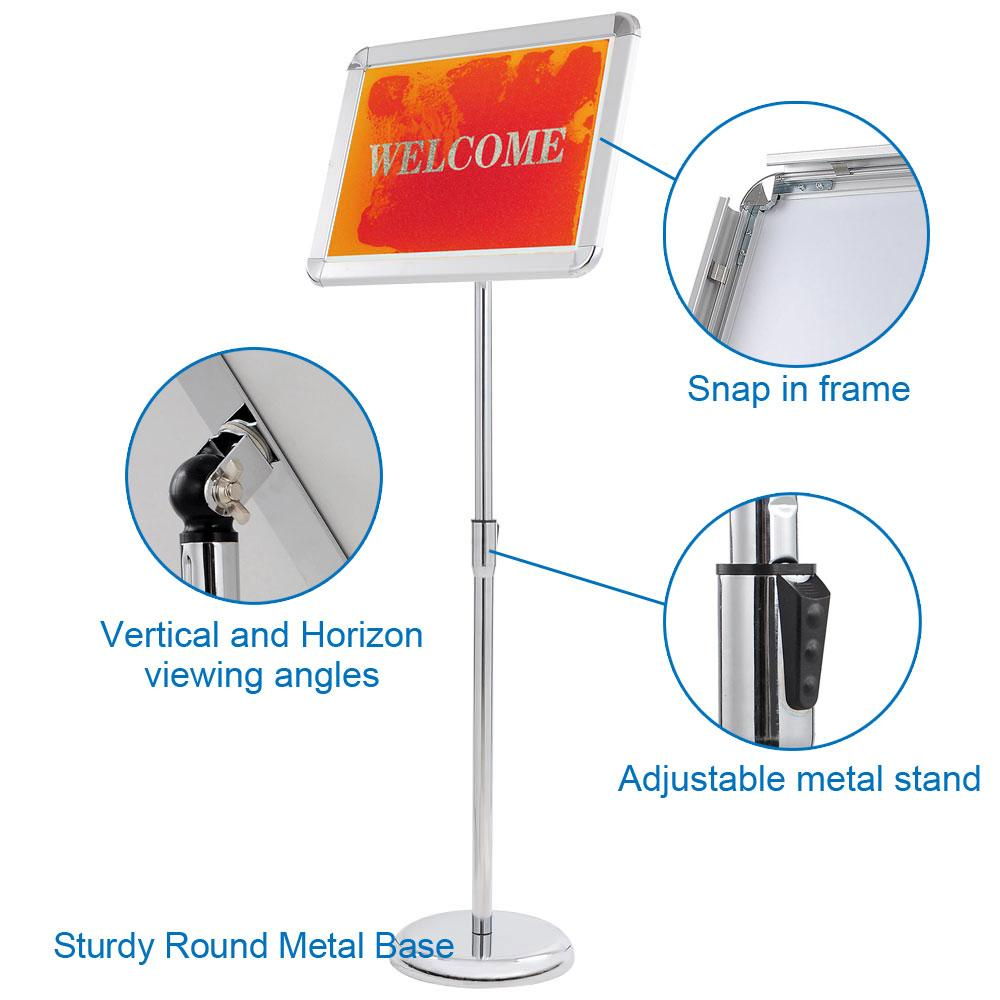Wholesale 12x17 Pedestal Poster Sign Stand Floor Stand, Snap Open