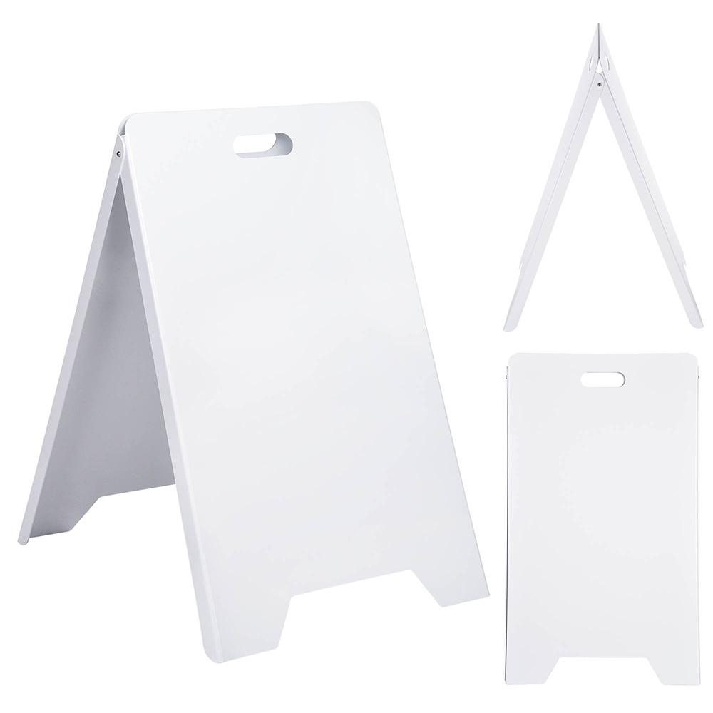 Wholesale Sidewalk Sign Stand w/ Handle 2 Sided, White, 19x32 Posters