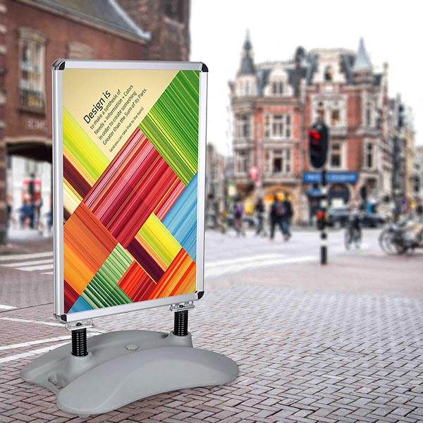 Wholesale Sidewalk Sign Stand Snap Open, Fillable Base, 23x33 Posters