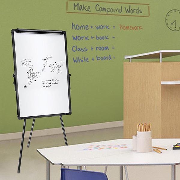 "Magnetic Dry Erase White Board with Tripod Stand 24""x36"""