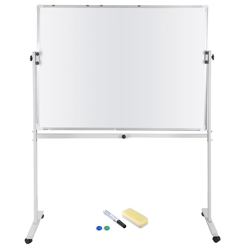 "Magnetic Dry Erase White Board 2 Sides with Mobile Stand 48""x36"""