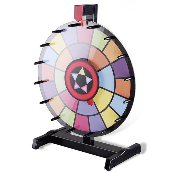 "WinSpin Prize Wheel Dual-Circle 15"" Tabletop Spinning Wheel"