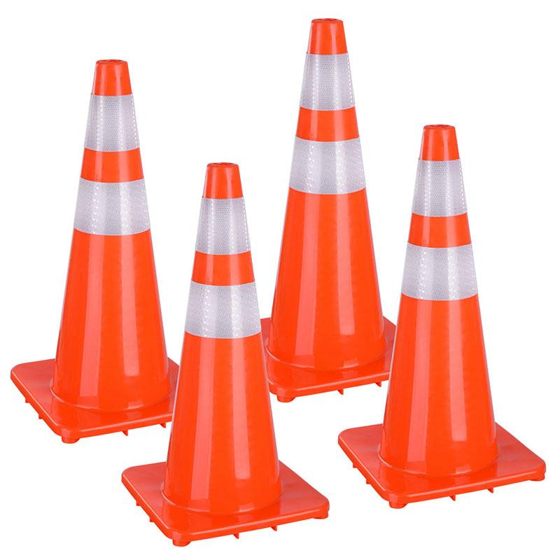 "28"" Traffic Cones with Reflective Collars"