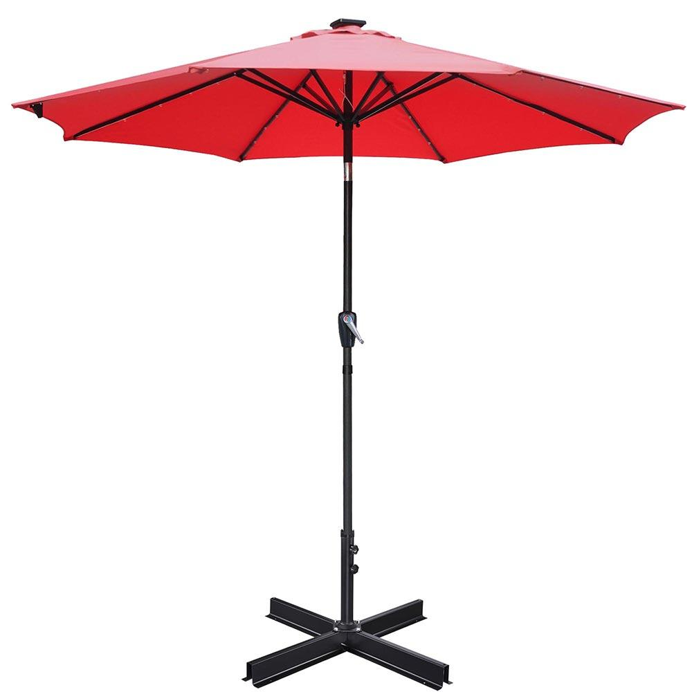 "Metal Paver Base Stand for Up to 2"" Patio Umbrella Poles"