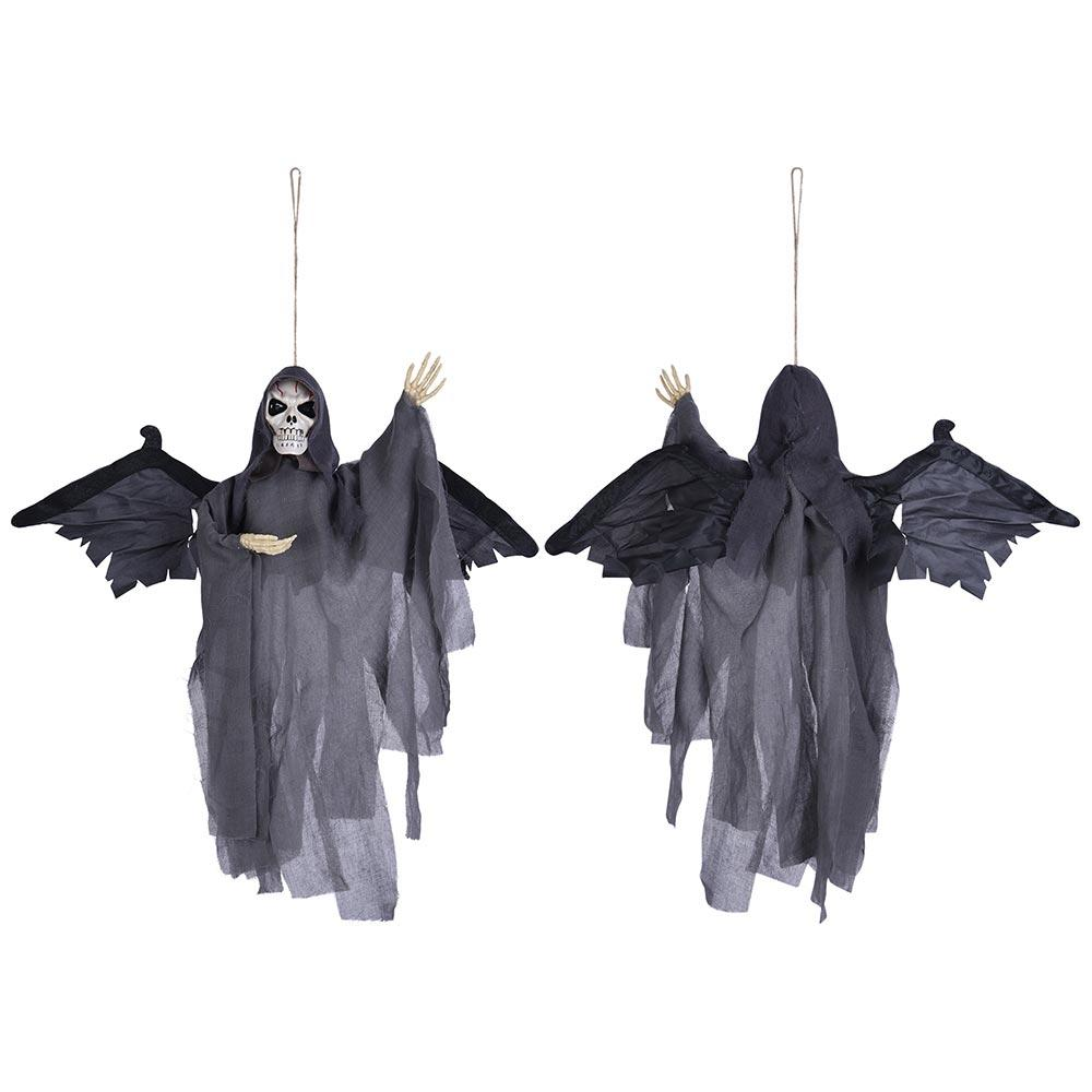 Halloween Props Animated Skeleton w/ Wings Lighted Eyes