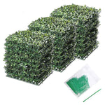 "Artificial Hedge Fence Decor 16sq.ft 10x10"" 24pcs"