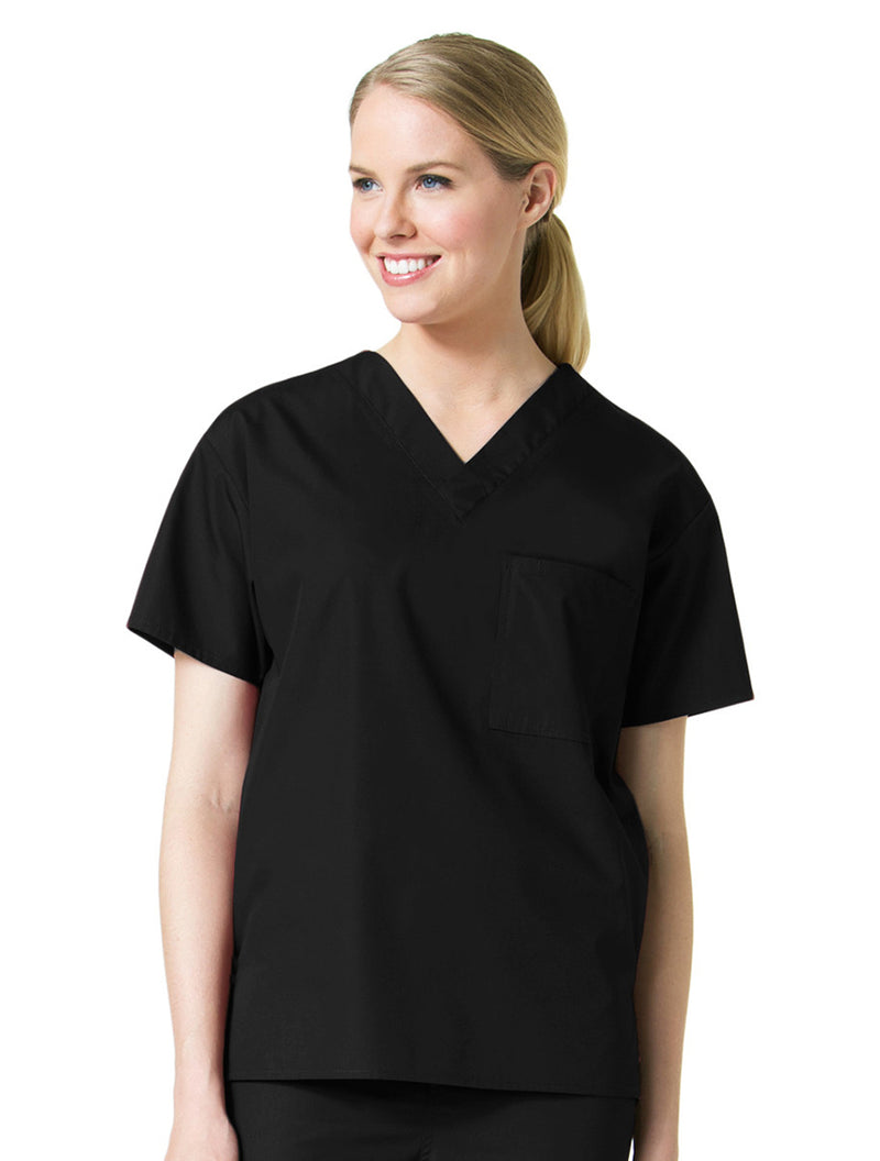 Maevn Unisex Core V-Neck Top Black