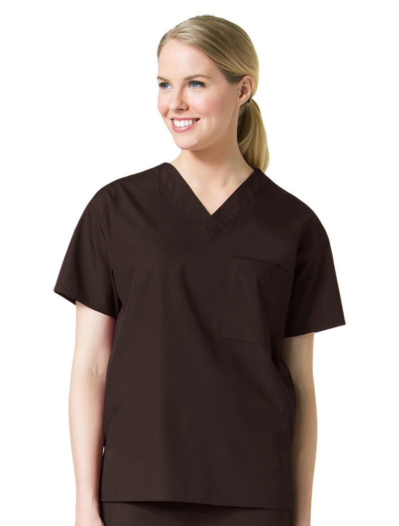 Maevn Unisex Core V-Neck Top Chocolate