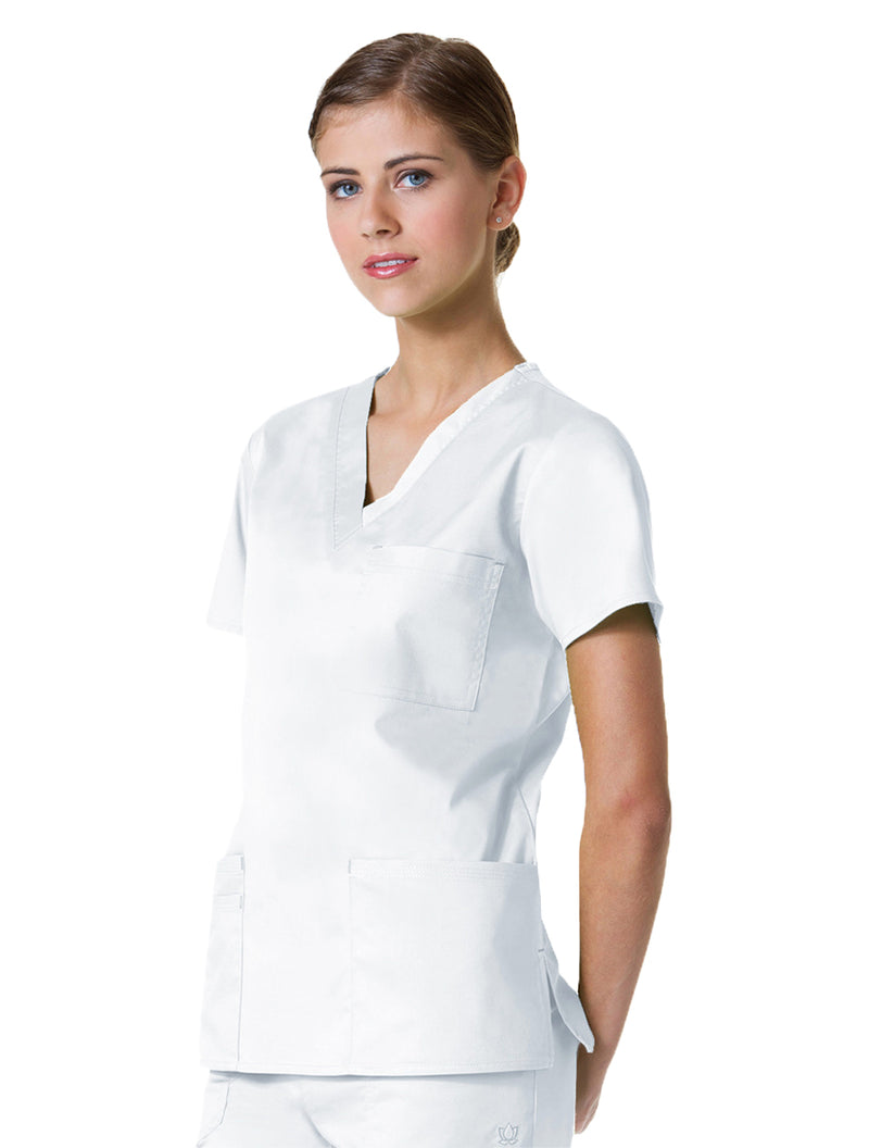 Maevn Women's Blossom 3 Pocket V-Neck Scrub Top 1202