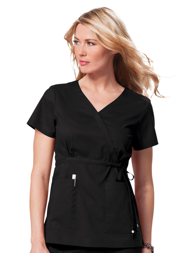 Landau Women's V-Neck Four-Pocket Scrub Top