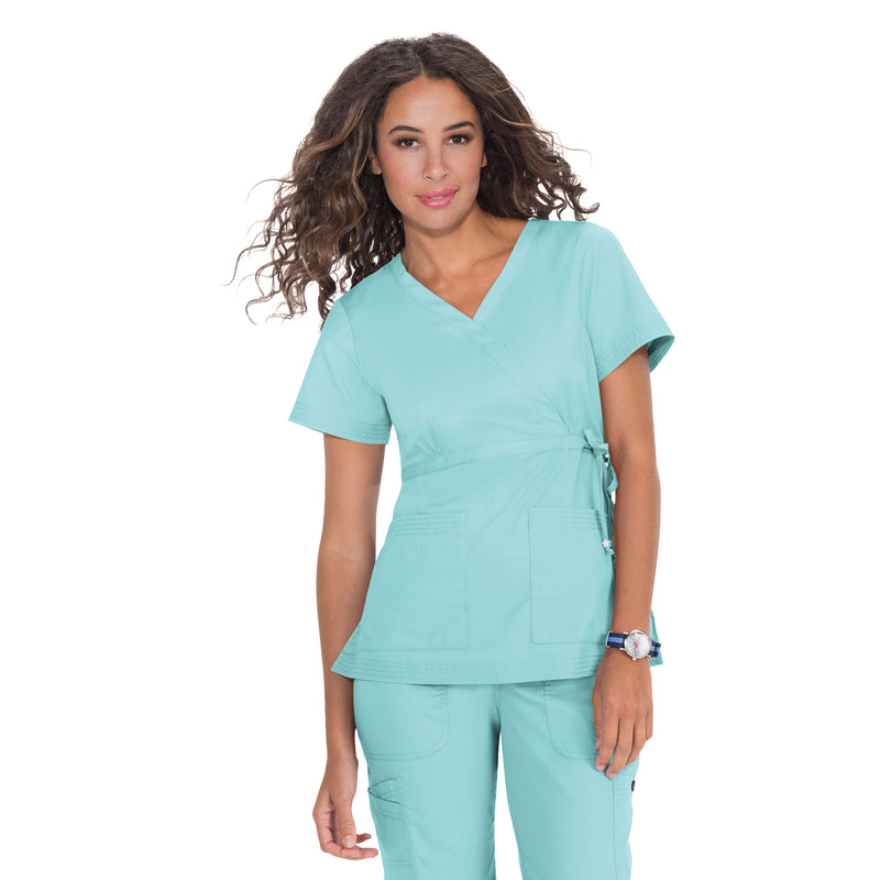 Koi Katelyn Scrub Top Blue