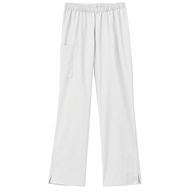 Fundamentals Ladies Cargo Pocket Scrub Pant White