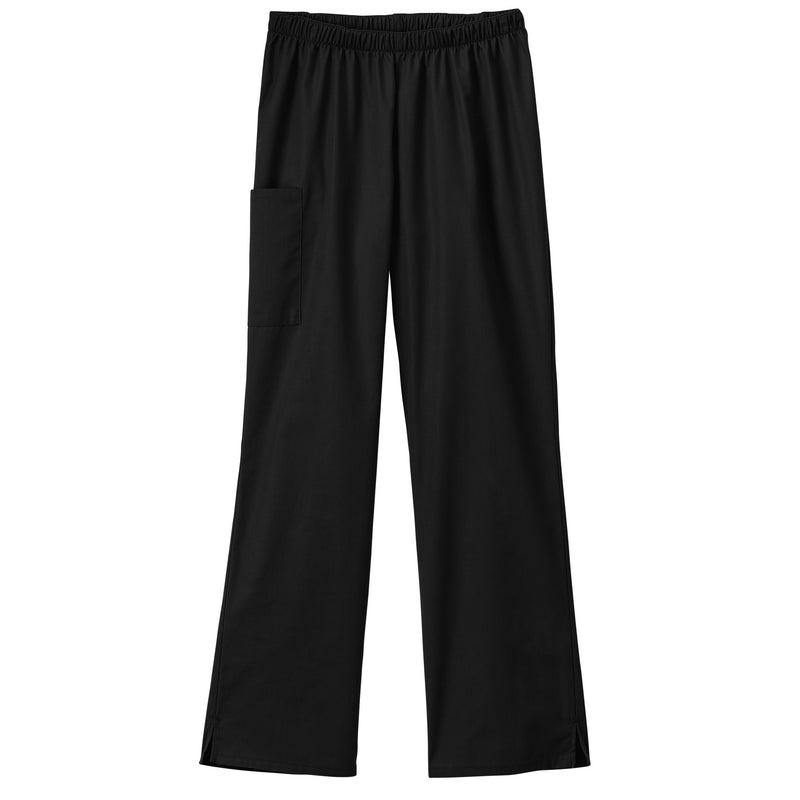 Fundamentals Ladies Cargo Pocket Scrub Pant Black
