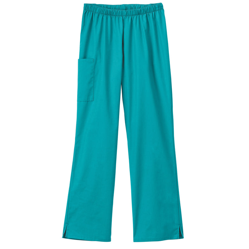 Fundamentals Ladies Cargo Pocket Scrub Pant Teal