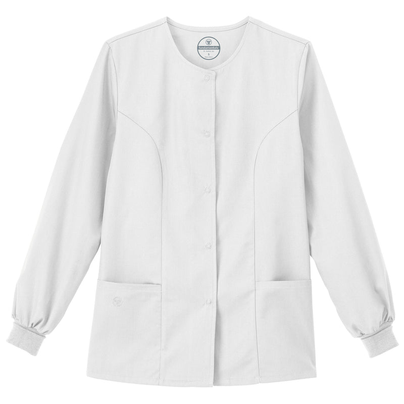 "Fundamentals Women's 28"" Warm-Up Jacket White"