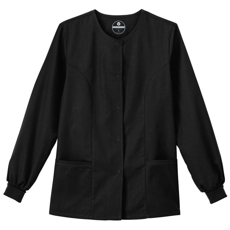 "Fundamentals Women's 28"" Warm-Up Jacket Black"