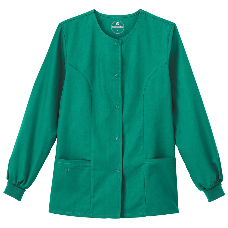 "Fundamentals Women's 28"" Warm-Up Jacket Hunter Green"