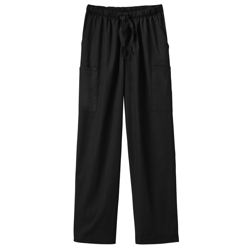 Fundamentals Unisex Five Pocket Scrub Pant Black