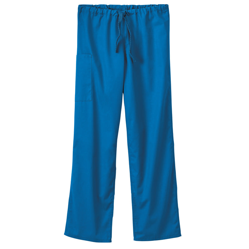 Fundamentals Unisex Drawstring w/ Elastic Back Scrub Pant Royal Blue