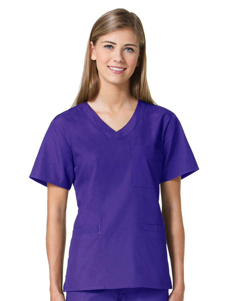 Maevn Women's Core 3 Pocket V-neck Top 1626 Purple