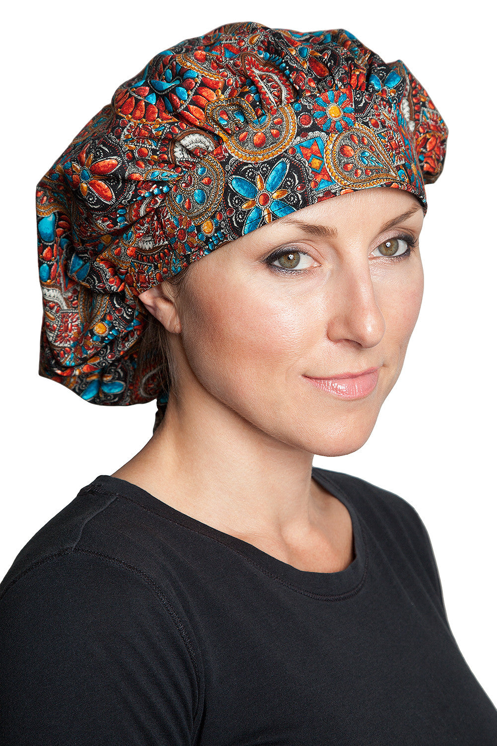 Fiumara Apparel Bouffant Cap Indian Jewel Coral
