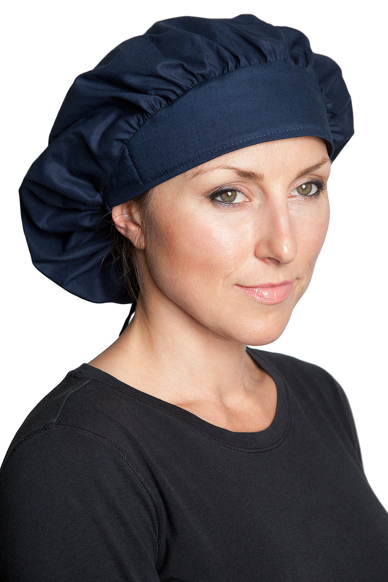 Fiumara Apparel Bouffant Cap Navy