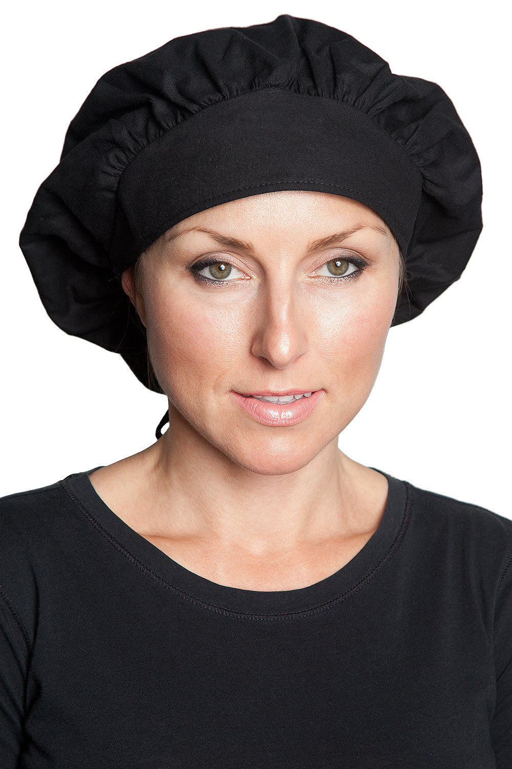 Fiumara Apparel Bouffant Cap Black Front