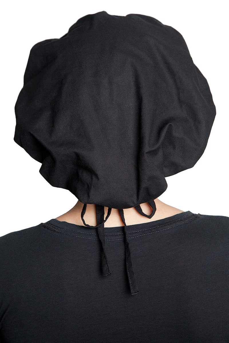 Fiumara Apparel Bouffant Cap Black Back Down