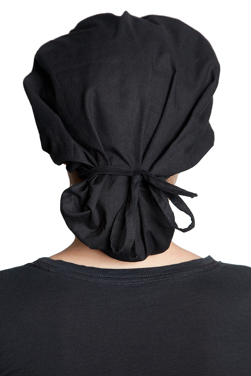 Fiumara Apparel Bouffant Cap Black Back Tied