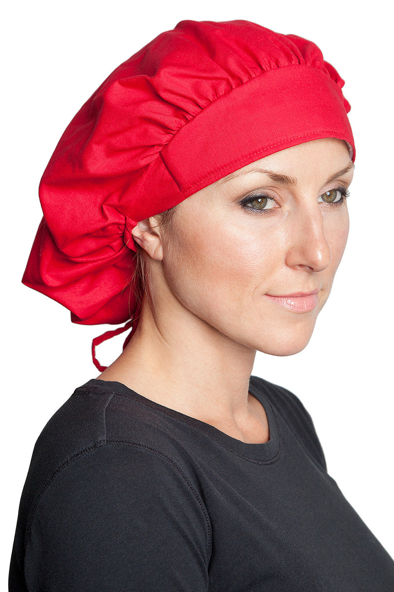 Fiumara Apparel Bouffant Cap Red